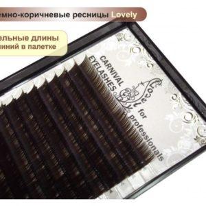 Ресницы Тёмный шоколад Lovely 20 линий