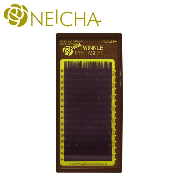 Ресницы Neicha Twinkle Dark Brown (темно-коричневые)