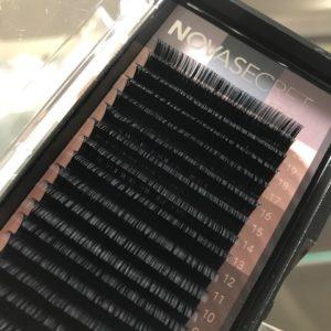 Ресницы Чёрные NovaSecret pro+ 20 линий