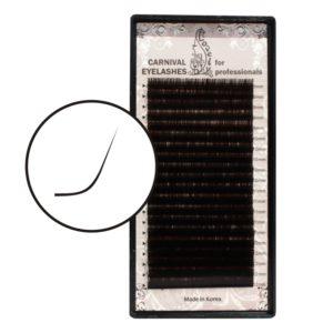 Mix Ресницы Тёмно-коричневый Lovely изгиб L 20 линий