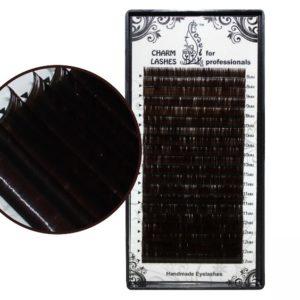 Mix Ресницы Тёмный шоколад Lovely 20 линий