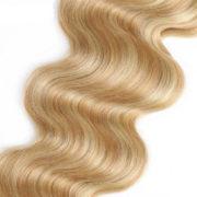 Натуральные мелированные волосы, Светло-русые, На заколках, Волнистые, 7 прядей, 120 гр — 2