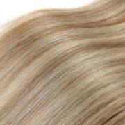 Натуральные мелированные волосы на заколках, Натуральный каштан + Блонд, Прямые, 7 прядей, 50,8 см (20 дюймов), 120 гр — 2