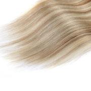 Натуральные мелированные волосы на заколках, Натуральный каштан + Блонд, Прямые, 7 прядей, 50,8 см (20 дюймов), 120 гр — 3