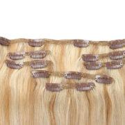 Натуральные мелированные волосы на заколках, Светло-русые, Прямые, 7 прядей, 50,8 см (20 дюймов), 120 гр — 3