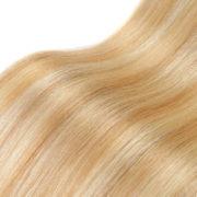 Натуральные мелированные волосы на заколках, Светло-русые, Прямые, 7 прядей, 50,8 см (20 дюймов), 120 гр — 4