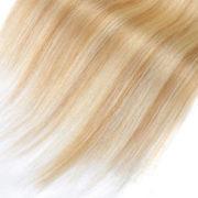 Натуральные мелированные волосы на заколках, Светло-русые, Прямые, 7 прядей, 50,8 см (20 дюймов), 120 гр — 5