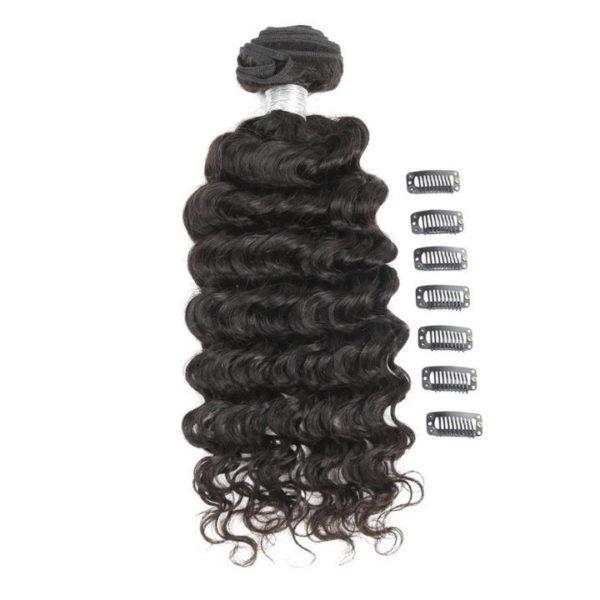 Натуральные чёрные волосы, Волнистые. 50,8 см (20 дюймов), 100 гр