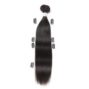 Натуральные чёрные волосы на трессах , прямые . 50см , 100гр
