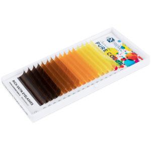 Ресницы Pure Color (несколько цветов в палитре) С 0,10-12мм — теплые цвета Extreme Look (16 линий)