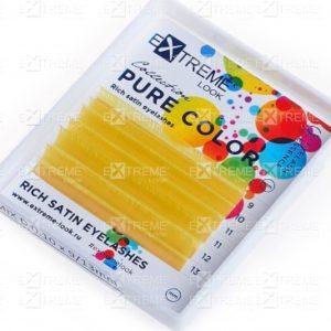 Ресницы Pure Color (однотонный цветной микс) D 0,10 (9-13) yellow Extreme Look (6 линий)