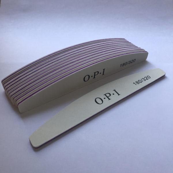Пилка для ногтей OPI 180-320 полукруглая