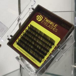 Ресницы NEICHA MINI TWINKLE DARK BROWN (Темно-коричневые), 6 линий
