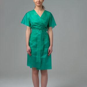 Халат-кимоно без рукавов спанбонд Зеленый