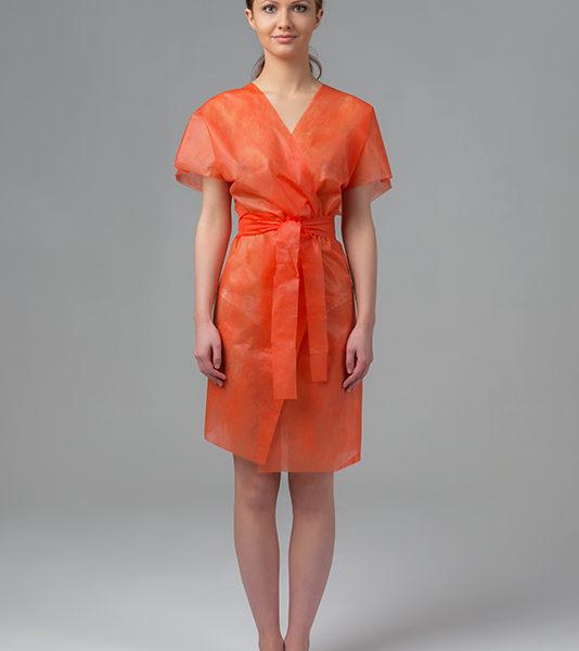Халат-кимоно без рукавов спанбонд Оранжевый