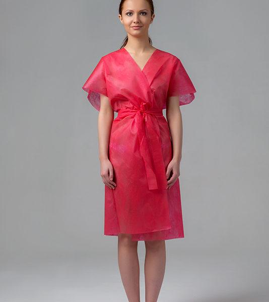 Халат-кимоно без рукавов спанбонд Розовый
