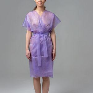 Халат-кимоно без рукавов спанбонд Сиреневый