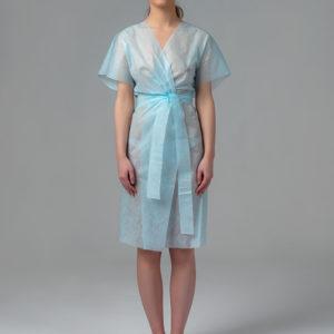 Халат-кимоно без рукавов SMS Голубой