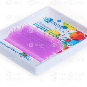Ресницы Pure Color (однотонный цветной микс) D 0,10 (9-13) light purple Extreme Look (6 линий)