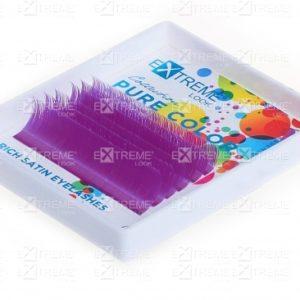 Ресницы Pure Color (однотонный цветной микс) D 0,10 (9-13) purple Extreme Look (6 линий)