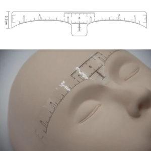 Линейка для бровей самоклеющаяся, 1 шт 2
