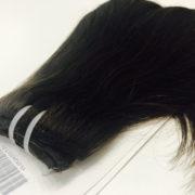 Натуральные волосы темно-коричневого цвета, Прямые, 100 гр, 50 см, 7 прядей 2