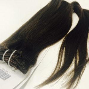 Натуральные коричневые волосы, Прямые, 100 гр, 50 см, 7 прядей 1