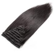 Натуральные чёрные волосы, Прямые, 55 см, 140 гр, 10 прядей 2
