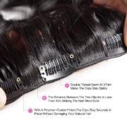 Натуральные чёрные волосы, Прямые, 55 см, 140 гр, 10 прядей 5