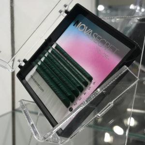 mixЗелёный0,108-12мм6 линийРесницы Novasecret color+