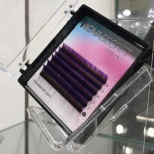 mixФиолетовый8-12мм6 линийРесницы Novasecret color+