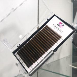 MIX тёмно-коричневых ресниц Charme Zone от 7 до 13 мм (20 линий)