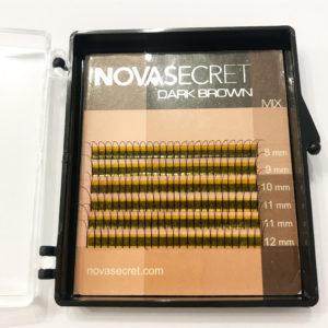 Ресницы Тёмно-коричневые Y-тип Mix (8-12 мм) NovaSecret 6 линий