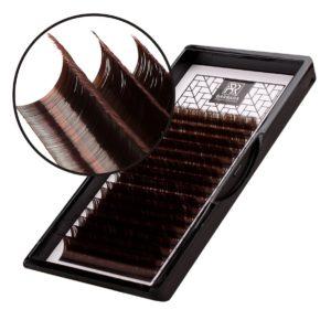 Тёмно-коричневые ресницы Горький шоколад Barbara Микс