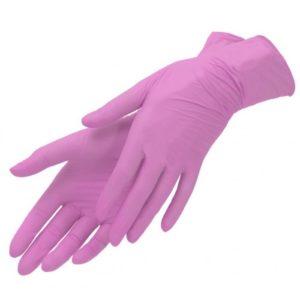Перчатки нитриловые, Розовые SunViv