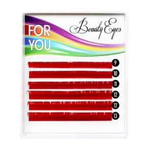 MIX Цветных ресниц (Red) For You Standart (6 лент)