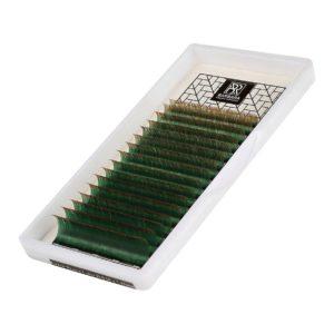 Комбинированные ресницы BARBARA (Зелено-коричневые) МИКС 7-15мм