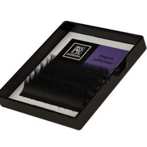 Чёрные ресницы BARBARA Elegant Мини-Микс, изгиб L+ (8-12 мм), 6 линий