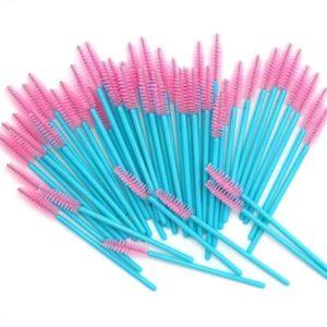 Щёточка Нейлоновая Розовая с голубой ручкой