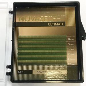 mixЗелёный8-12мм6 линийРесницы Novasecret Ultimate «limited edition» color