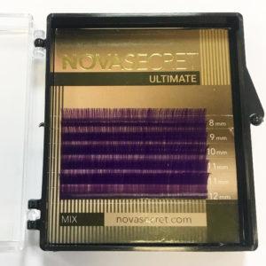 mixФиолетовый8-12мм6 линийРесницы Novasecret Ultimate «limited edition» color