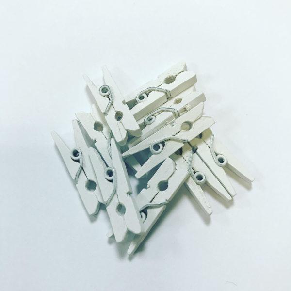 Мини-зажим для составов в Саше, набор (10шт), цвет белый