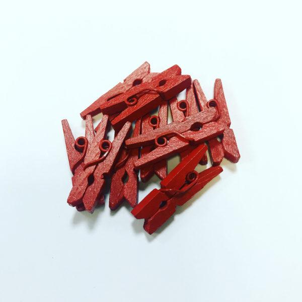Мини-зажим для составов в Саше, набор (10шт), цвет красный