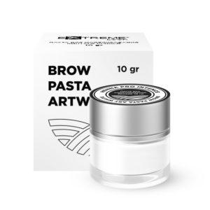 Паста для моделирования контура бровей Brow Pasta ART WHITE, 10 гр 1