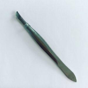 Пинцет для бровей со скошенными краями (Нержавеющая сталь)