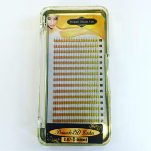 Ресницы Buzz Lashes V-тип (2D) MIX (8-14 мм), 16 линий