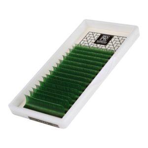 Цветные ресницы (зелёные) Barbara