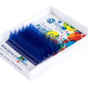 Ресницы Extreme Look Pure Color (однотонный цветной микс) 9-13 мм Blue (Синие), 6 линий