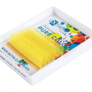 Ресницы Extreme Look Pure Color (однотонный цветной микс) 9-13 мм Yellow (Жёлтые), 6 линий