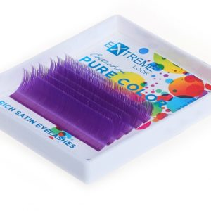 Ресницы Pure Color (однотонный цветной микс) 9-13 мм Violet (Фиолетовые) Extreme Look (6 линий)